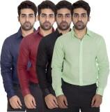 Deekshavastra Men's Solid Casual Maroon ...