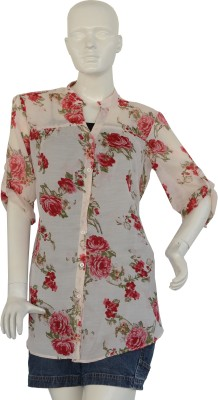 Jupi Women's Floral Print Casual Pink, Red, Green Shirt