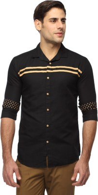 River Nation Men's Solid Casual Black Shirt