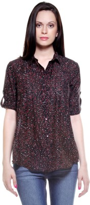 My Addiction Women's Printed Casual Multicolor Shirt