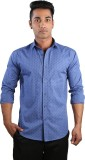 Just Differ Men's Paisley Casual Blue Sh...