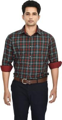 Hackensack Men's Checkered Casual Green Shirt
