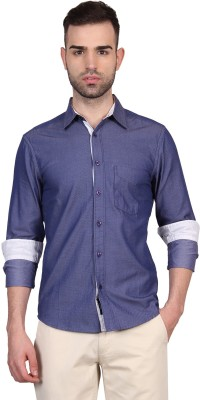 Urban Nomad By INMARK Men's Solid Casual Blue Shirt