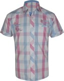Jazzup Boys Checkered Casual Pink, White...