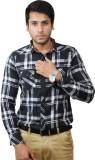 Flakes Fashion Men's Checkered Casual Bl...