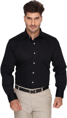 Blacksmith Men's Solid Formal Black Shirt
