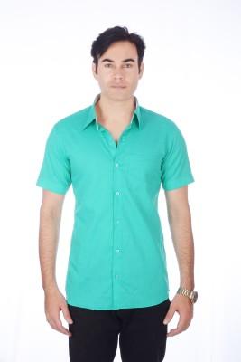 Darzii Men's Solid Casual Dark Green Shirt