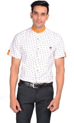 GARGI FASHIONS Men's Printed Casual Yellow, White Shirt