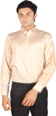 Kriss Men's Solid Casual Beige Shirt