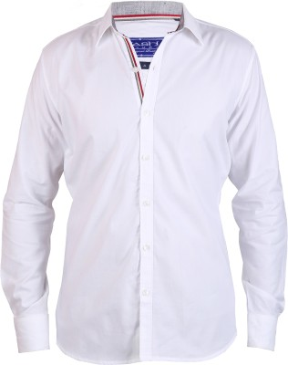 Hash Luxury Men's Solid Casual White Shirt