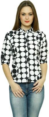 LEBE Women's Geometric Print Casual Multicolor Shirt