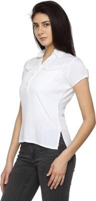 Texco Garments Women's Self Design Casual White Shirt