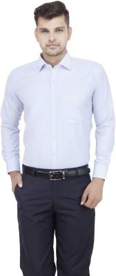 FranklinePlus Men's Solid Formal Light Blue Shirt