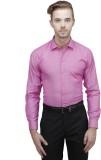 Unixx Men's Solid Formal Purple Shirt