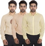 Deeksha Men's Solid Casual Yellow Shirt ...