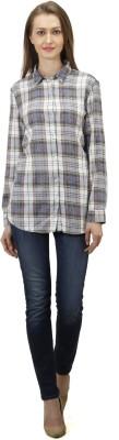 Splendent Women's Checkered Casual Multicolor Shirt