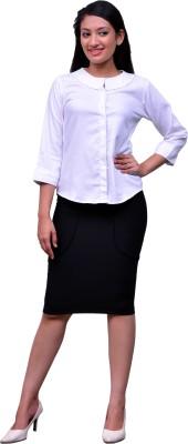 Change 360 Women's Solid Formal White Shirt