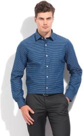 Arrow Men's Checkered Formal Blue Shirt