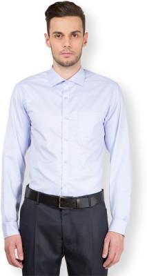 Mark Taylor Men's Checkered Formal Blue, White Shirt