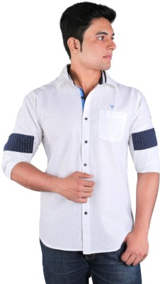 Relish Men's Solid Casual White Shirt