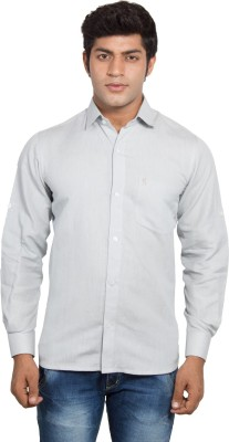Nauhwar Men's Solid Formal Linen Grey Shirt