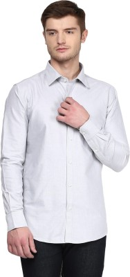 American Crew Men's Solid Formal Grey Shirt