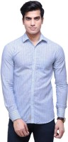 The Greek Formal Shirts (Men's) - The GreeK Men's Striped Formal Blue Shirt
