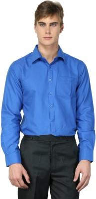 MNW Men's Solid Formal Blue Shirt