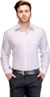 American Cult Men's Solid Formal White Shirt