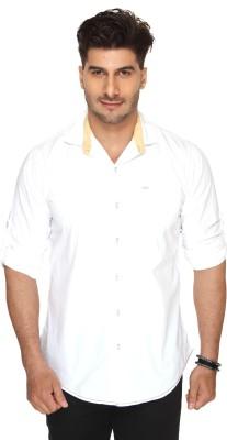 Ramarrow Men's Solid Casual White Shirt