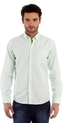 Red Tape Men's Solid Casual Green Shirt