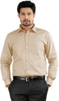 Sttoffa Formal Shirts (Men's) - Sttoffa Men's Solid Formal Brown Shirt