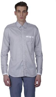 Baba Rancho Men's Printed Casual Black, White Shirt