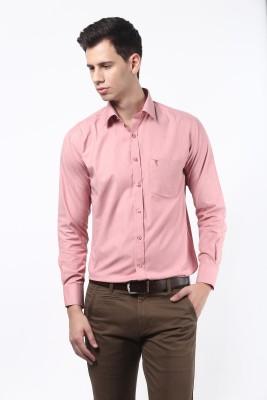 Remo Men's Solid Formal Pink Shirt