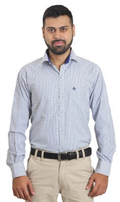 The Standard Men's Printed Casual White Shirt