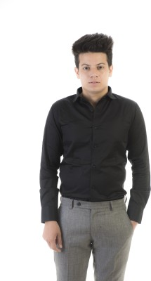 Jeanster Men's Solid Casual Black Shirt