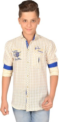 Anry Boy,s Checkered Casual Yellow Shirt