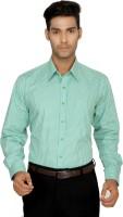 Devaa Formal Shirts (Men's) - Devaa Men's Checkered Formal Green Shirt