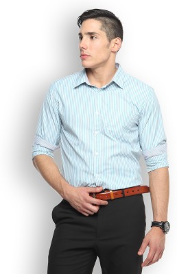 Brooklyn Blues Men's Striped Casual Multicolor Shirt