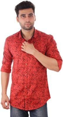 Studio Nexx Men's Printed Casual Red Shirt