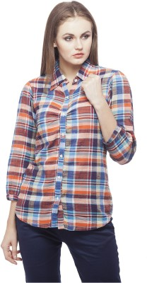 Peptrends Women's Checkered Casual Multicolor Shirt