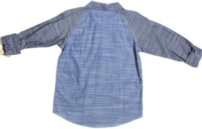 Levis Kids Boy's Solid Casual Blue Shirt