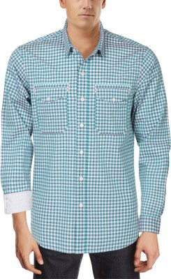Roar and Growl Men,s Checkered Casual Multicolor Shirt