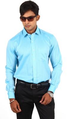 Barrier Reef Men's Solid Casual Light Blue Shirt