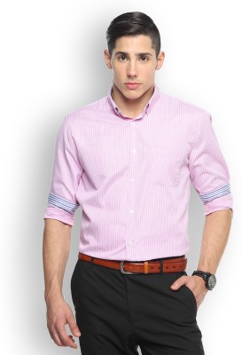 Brooklyn Blues Men's Checkered Casual Pink Shirt