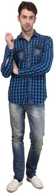 Custom Paid Men's Checkered Casual Multicolor Shirt