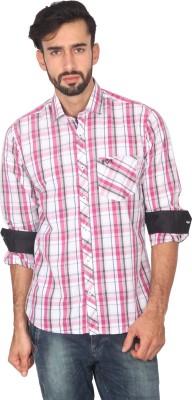 Ashford Brown Men's Checkered Casual Multicolor Shirt