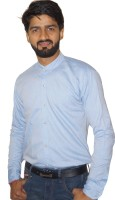 Catch My Style Formal Shirts (Men's) - Catch My Style Men's Solid Formal Blue Shirt