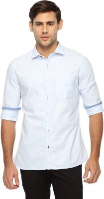 Marc N, Park Men's Solid Casual White Shirt