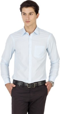 Kanva Men's Solid Casual Light Blue Shirt